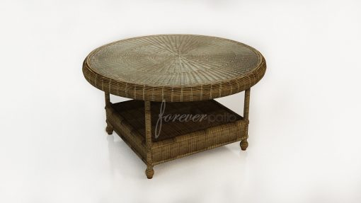 "Rockport 36"" Round K/D Chat Table with Glass Top"