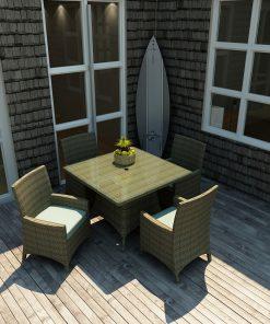 5 Piece Hampton Square Dining Set