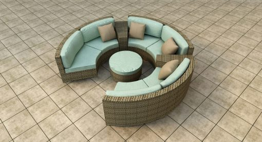 6 Piece Hampton Radius Sectional Set